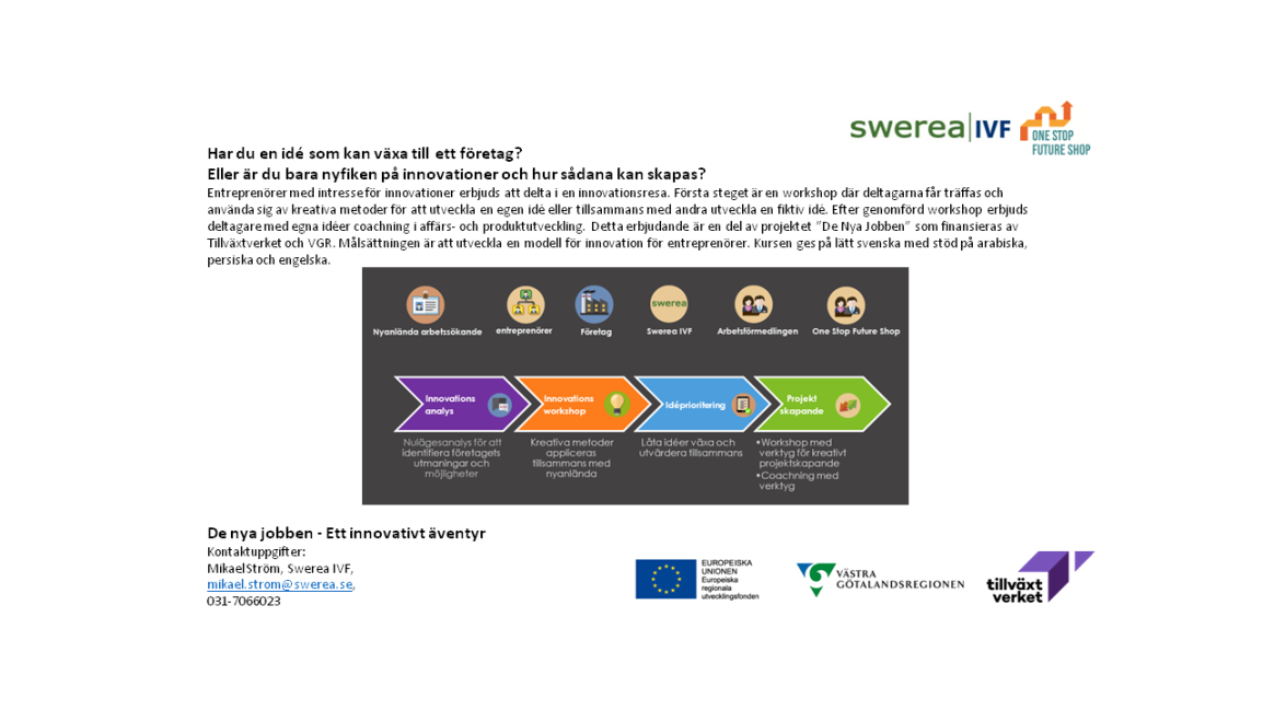 28/9 Innovation med SWEREA